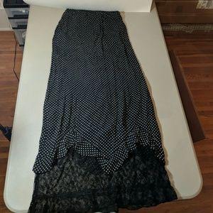 Long Maxi Skirt Jenny Helene Size S Lace Hem